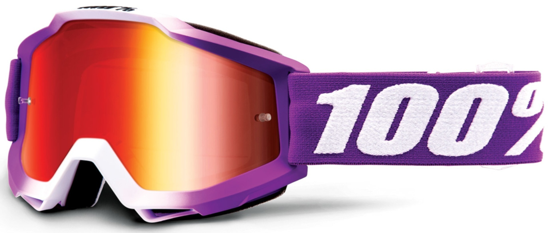 100% Accuri Extra Framboise Motocross Brille, weiss-lila, weiss-lila