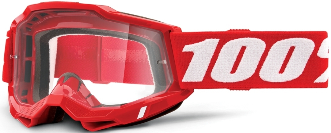 100% Accuri II Motocross Brille, rot, rot