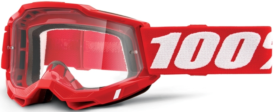 100% Accuri II OTG Motocross Brille, weiss-rot, weiss-rot