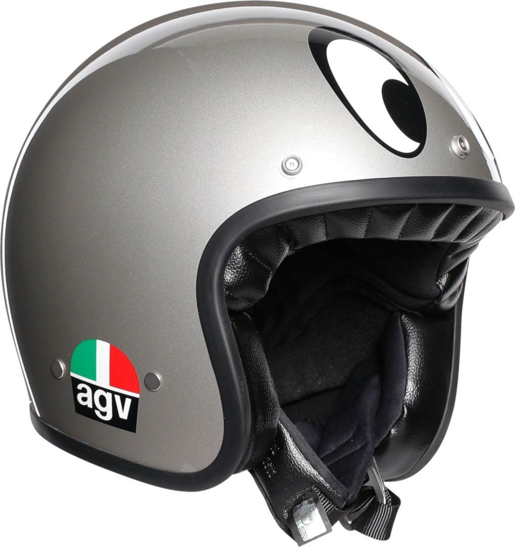 AGV X70 Mont Juic Jethelm Silber XS