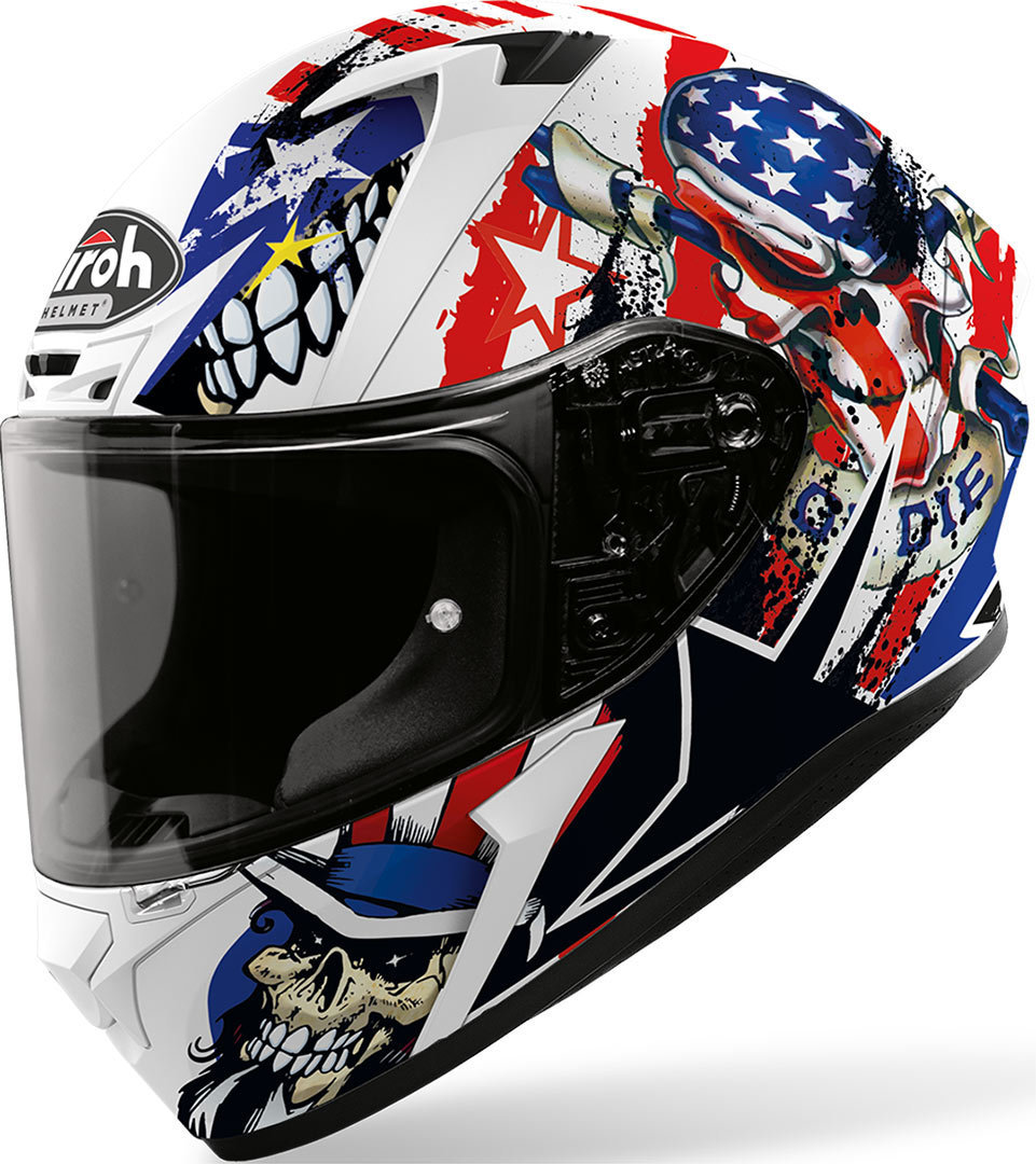 Airoh Valor Uncle Sam Helm, weiss-rot-blau, Größe XS, weiss-rot-blau, Größe XS